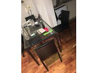 Ikea Granas table and 2 Oka Davina dining chairs