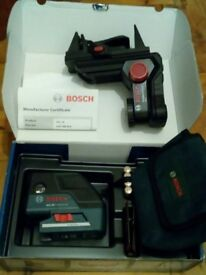NEW Bosch GCL 25 Pro 2 x Cross Line + 5 x Point Combi Laser + BM1 Wall Mount £300 ono