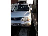 SWB shogun lovely condition used daily air con cruise full elec pack twin socket tow bar .