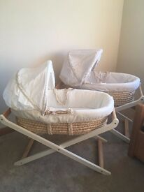 Mothercare Moses Basket £15 Each ONO