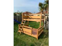 Used, Oak bunk beds for sale  Corringham, Essex