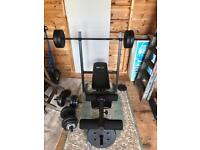 Pro fitness bench press and leg press including all weights