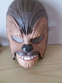 Kids Adults Star Wars the force awakens Chewbacca electronic face mask with sound fun party