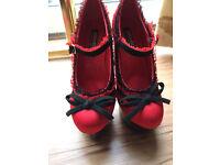 Burlesque/Pole Dancing Shoes with Killer Heels. Brand New.