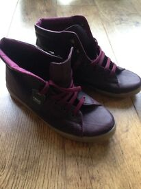 Next New with Tags Burgundy Short Flat Boots Size 5/38