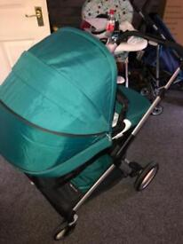 Mothercare roam turquoise travel system