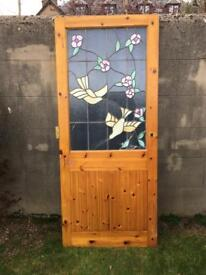Stained Glass Door - very pretty!