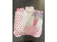 Baby girls sleeping bags 6-18 months