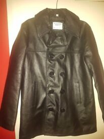 Real leather coat
