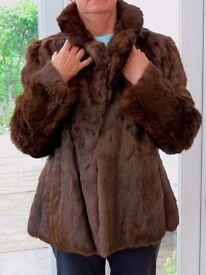 Vintage Coney fur jacket size 16/18, perfect condition