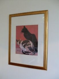 large framed steinlen cats picture