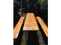 German Vintage Beer Tables and Benches