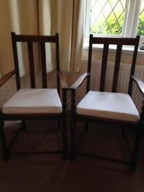 A Pair of Quality upright Chairs