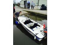 Fletcher 4 seater speed boat and trailer. 40 Hp 2stroke. Fast immaculate boat ready to sail.