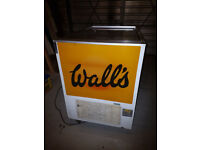 Large twin lid Wall's retro ice cream freezer in good working order.