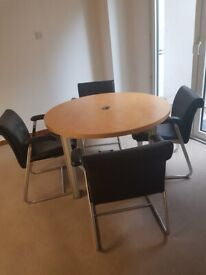 High Quality Wood Finish circular Office/Meeting/break out Table