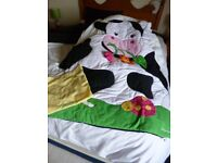 LILLIPUTIENS large colouful Playmat in the shape of a cow with interactive items