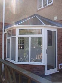 Small Conservatory including blinds - ideal as a back porch - 2.1 x 2.0 m (internal)