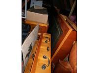 Replica pedestal and filing cabinet