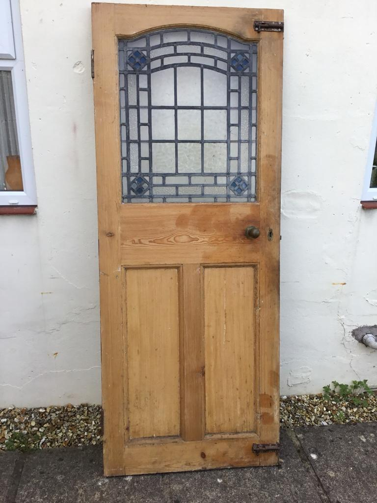 Old Wooden Victorian Stained Glass Door 50 Ono In Keynsham