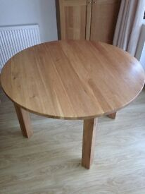 SOLID OAK DINING / KITCHEN TABLE