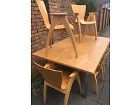 Beautiful contemporary extending dining table and chairs x 6