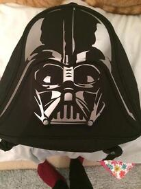 Kids Black Darth Vader Backpack - Star Wars