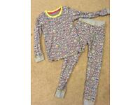 Leopard print M&S Girls thermal underwear or pj pyjamas age 7-8