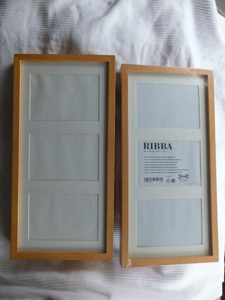 Pair of wooden picture photo frames IKEA Ribba panel frames | in ...