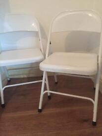 Homebase foldable white chairs FOR SALE!!