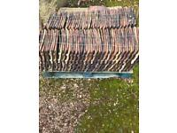 Approx 850 Reclaimed Staffordshire Red Handmade Roof Tiles