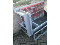 Van racking system ex BT. Mounts to floor and braced at to