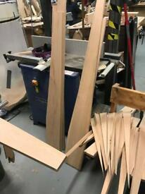 Oak timber offcuts boards