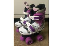 AS NEW GIRL'S ROLLER BOOTS SIZE 10 - 12 CB21