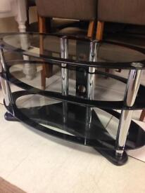 Glass oval tv unit was £130 now only £70