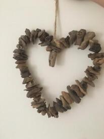 Driftwood wooden heart