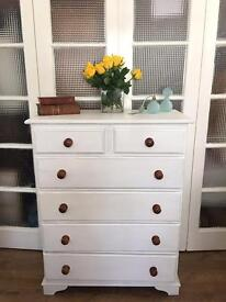 SOLID PINE CHEST FREE DELIVERY LDN🇬🇧SHABBY CHIC