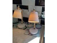 TWO BEDSIDE LAMPS FOR SALE