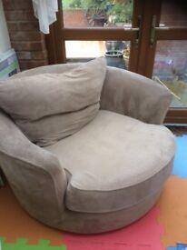 Snuggle Armchair spins 360