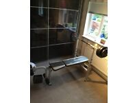 Maximuscle weight bench with weights