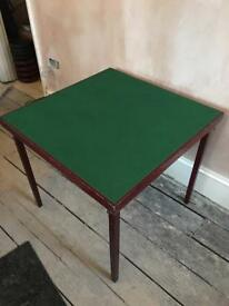 Wooden and felt card/poker table.