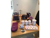 Selection of kitchen items including Next Kettle and Toaster