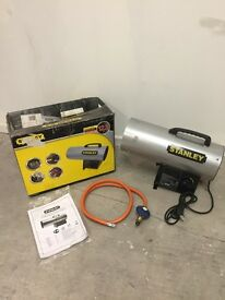 Stanley 12.3KW LPG Gas Fan Heater - Home Garage Office Work