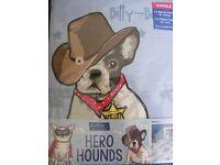 Kids Hero Hounds Single Duvet Set: Brand New