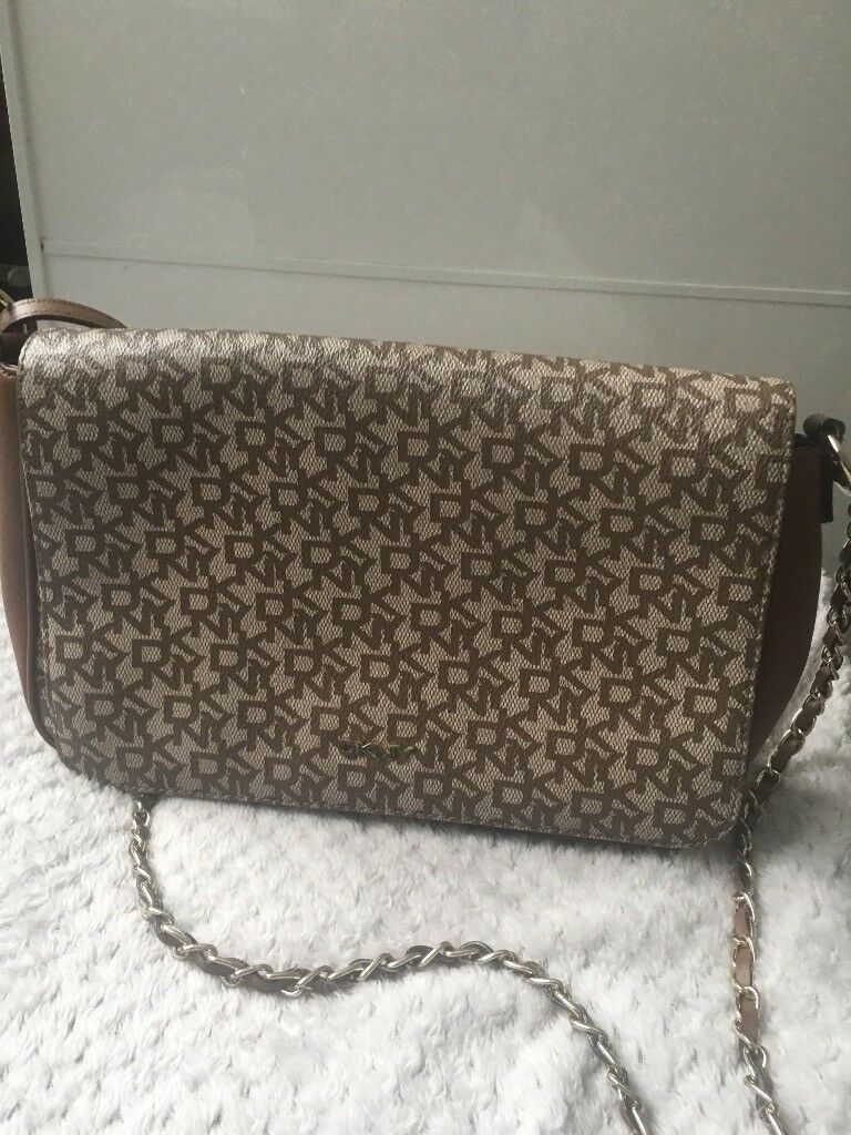 Dkny Brown Leather Hand Bag