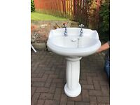 Doulton toilet & large sink with pedestal