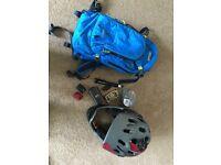 Mountain bike car rack + Bell Super 2 Helmet plus extras