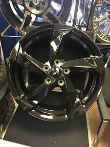 17 INCH AUDI / VW REPLICAS -- GLOSS BLACK -- 5X112