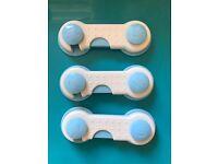 3 Pcs Adhesive Adjustable Drawer Safety Locks Window Fridge Wardrobe Anti Pinching Protects Finger
