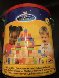 75 piece wooden blocks from Toys R Us - for sale, £5, (RRP £11.99)